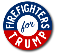 """Firefighters For Trump 2020 - 1.5"""" Button"""