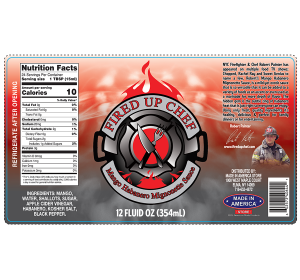 Fired Up Chef - Mango Habanero Mignonette Sauce 12oz.