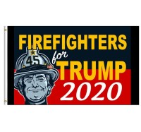 Firefighters For Trump 2020 - 3' x 5' Firefighter Trump Flag