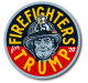 "Firefighters For Trump 2020 - 2"" Firefighter Trump Sticker"