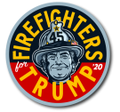 Firefighters For Trump 2020 - Firefighter Trump Button