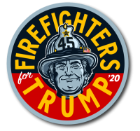 "Firefighters For Trump 2020 - 4"" Firefighter Trump Sticker"